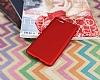 Xiaomi Mi Note 3 Mat Kırmızı Silikon Kılıf - Resim 1