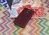 Xiaomi Redmi 4 Mat Bordo Silikon Kılıf - Resim 2