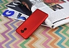 Xiaomi Redmi 4 Mat Kırmızı Silikon Kılıf - Resim 1