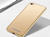 Xiaomi Redmi 4A Tam Kenar Koruma Gold Rubber Kılıf - Resim 1
