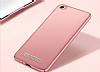 Xiaomi Redmi 4A Tam Kenar Koruma Rose Gold Rubber Kılıf - Resim 1