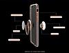 Zhuse Samsung Galaxy S8 Plus Selfie Yüzüklü Gold Kenarlı Şeffaf Silikon Kılıf - Resim 4