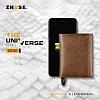 Zhuse The Universe 4000 mAh Powerbank Yedek Batarya ve Kahverengi Deri Cüzdan - Resim 5