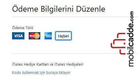 AppStore / iTunes'da Kayıtlı Kredi Kartı Nasıl Silinir?