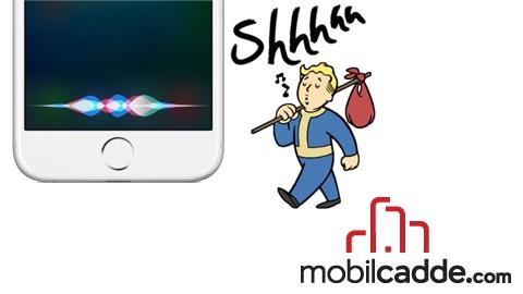 Siri'yi Sessize Alın