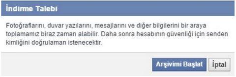 Facebook uyarı