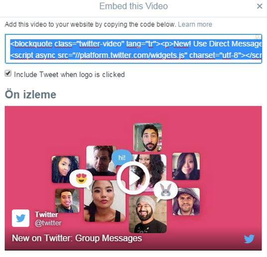 Artık Twitter Videolarını Web Sitenize Embed Edebilirsiniz